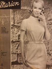 1965 | Marion naaipatronen maandblad | nr. 206 augustus 1965 - met radarblad - heren ochtendjas, pyjama's, jurkjes en regenkleding kind