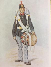 Verzamelkaart leger uniformen nr. 18 | België | Grenadiers | 1854