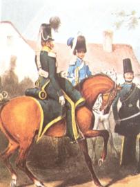 Verzamelkaart leger uniformen nr. 28 | België | 1e jagers te paard | 1833