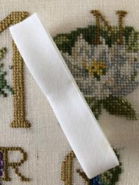 Band | Wit | Biaisband | Wit (sneeuw-)  | 2 cm | 100% katoen | Derco - kleurecht : patents pending