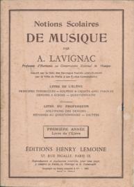 1905 | Muziek | Boeken | Lesboek: Notions Scolaires par A. LAVIGNAC Professeur d'Harmonie au Conservertoire National de Musique