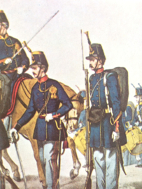 Verzamelkaart leger uniformen nr. 24 | België | Linie-Infanterie | 1855