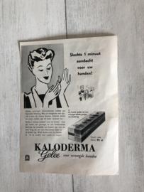 1954 | Advertenties |  Advertentie van Kaloderma Gelee en Rheumin van Brocades (Tweezijdig)
