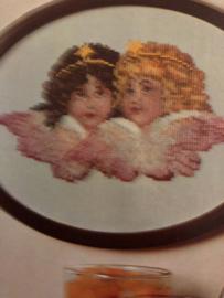 Onbekend | Divers | Telpatroon  (kopie - met kleurnummers) 'Twee engeltjes'