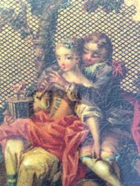 "Kunstkaart ""Tabatiere"" Die Flötenstunde- nach Francois Boucher Museum Lackkunst | 2015"