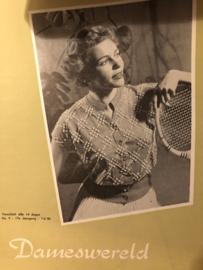 1954 | Tijdschrift | Dameswereld - No. 09 - 17e jaargang - 07-05-1954 - kragen