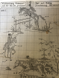 EVA ROSENSTAND | Dieren | Telpatroon ruitersport - Bellpull - Glockenzug - Klokkestreng - Schellekoord - 19 x 150 cm