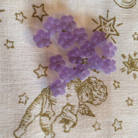 Licht paarse mini bloemen kraaltjes | 5 mm 15 stuks per zakje