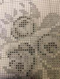 Crosstich Pattern | Stich Chart | Permin Roses