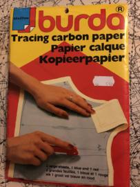 BURDA | Vintage Tracing carbon paper - Paier calque - kopieerpapier