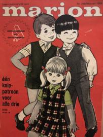 1969 | Marion naaipatronen maandblad | nr. 248 februari 1969 - met radarblad -  jurkjes, mantelpakjes