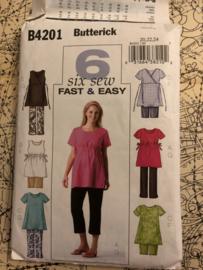 Naaipatronen | Butterick B4201 - positie blouses - 20 - 22 - 24