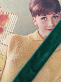 Band | Groen | Grasgroen fluweelband  'Gras velvet' (2 cm)