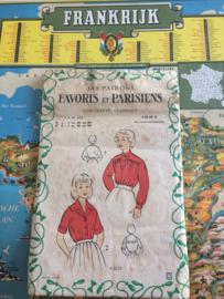 1940 | Favoris en Parisiens | Vintage naaipatroon | kinderblouse  8 tot 10 jaar | jaren '40-'50