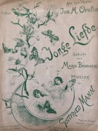 1896 | Muziek | Bladmuziek | Jonge Liefde - Muziek van Gottfried Mann | Leiden, J.M. Eggers
