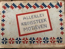 1930-1940 | Allerlei kruissteek motieven - Uitgave: De Vries: Textielfabriek Apeldoorn - sleets