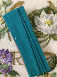 Band | Groen | Biaisband | Blauw groen / azuurblauw | 2 cm | 100% katoen | merkloos - dubbele naad - kleurecht - wasbaar tot 95 ℃