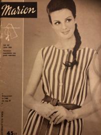 1963 | Marion naaipatronen maandblad | nr. 167 - juni 1963 - met radarblad - vintage jurkjes - jongensbadjasje