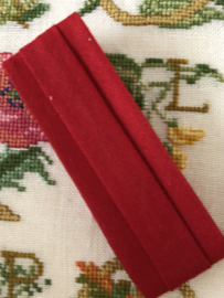 Band  | Biaisband | Donker rood  | 2 cm | 100% katoen | merkloos - kleurecht : patents pending