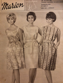 1966 | Marion naaipatronen maandblad | nr. 216 juni 1966 - vintage zomerjurkjes, broeken, bikini