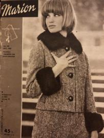 VERKOCHT | 1963 | Marion naaipatronen maandblad | nr. 183, oktober 1963 - met radarblad - winterjassen - tienerkleding - kinderkleding