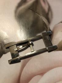 Gespen | Rechthoekig | Zilver | Ceintuur gesp 6.5 cm - 60 mm - vintage