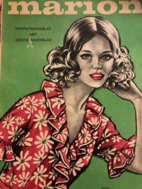 1968 | Marion naaipatronen maandblad | nr. 242  augustus 1968 - met radarblad  - jurkjes, mannenjas, regenkleding