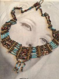 Egyptische halsketting | jaren '80-90 Vintage