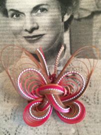 Vintage | filigrain broche raffia | 4 x 4 cm |  jaren '60