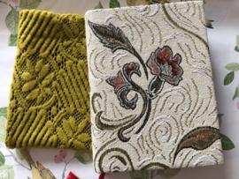 """Notitie schrift met tasje """"Golden leaves""""  (23 x 16 cm)"""