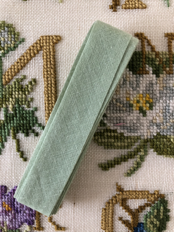 Band | Groen | Biaisband | Licht groen | 2 cm | 100% katoen | Derco - kleurecht : patents pending