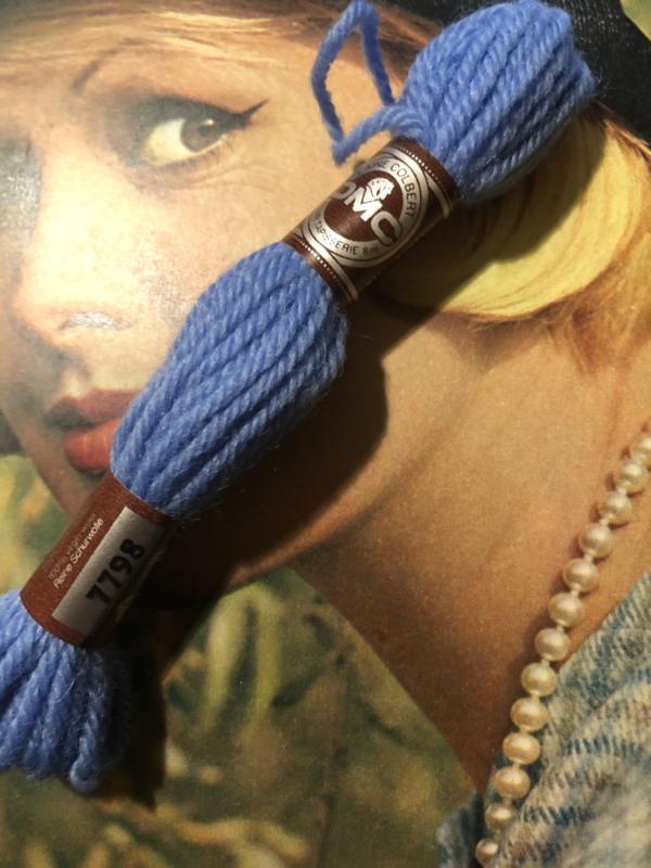 Borduurwol   7796 - 7798   Colbert DMC Tapestry wool - Blauwtinten