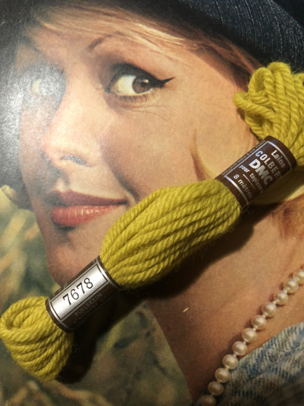 Borduurwol   7678 - 7679   Colbert DMC Tapestry wool - Geelgroen