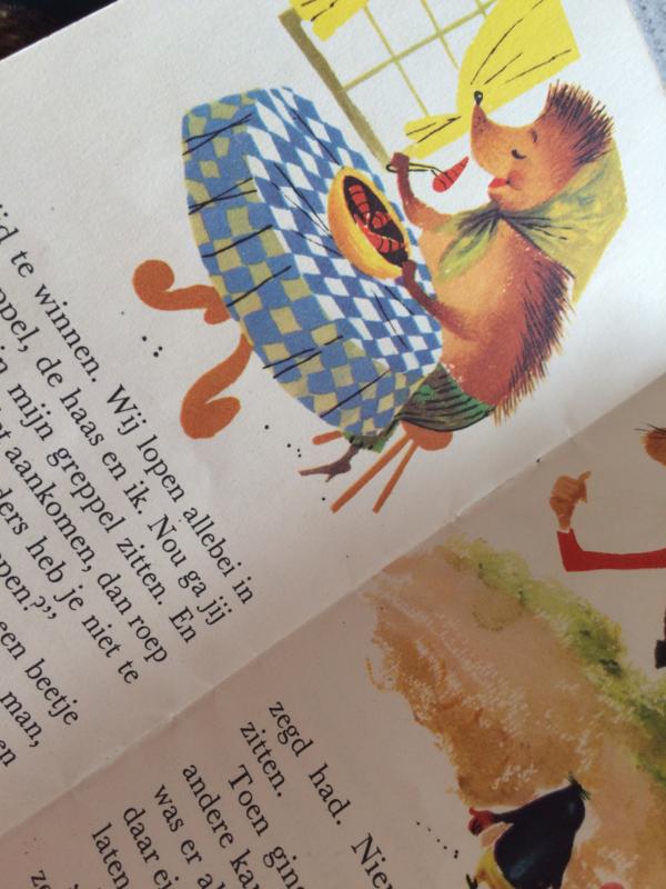 "1959 | Mini boekje | Kinderboekje  ""Haas en  Egel"" Radion Waspoeder, Serie B nr. 6"