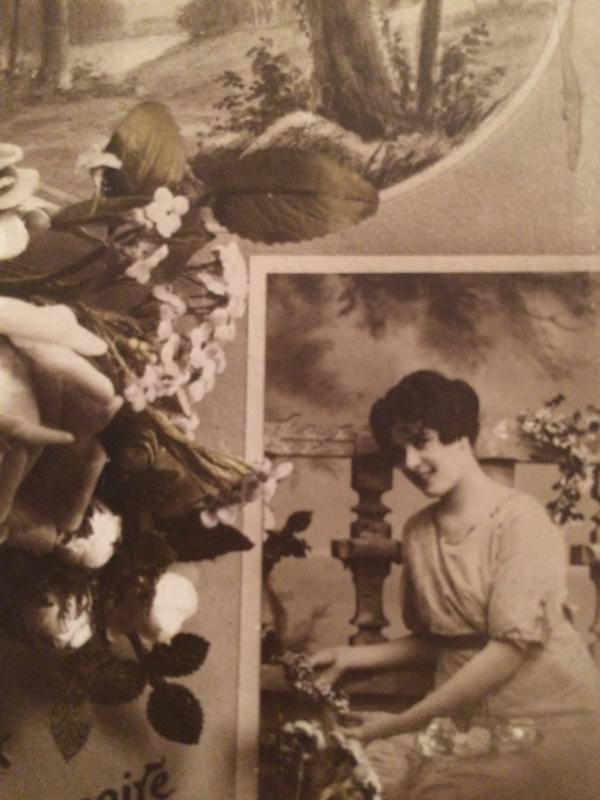 1916 | Verjaardag | Antieke kaart 'Hereux Anniversaire'  zwart-wit | M. Nicou MUG 830