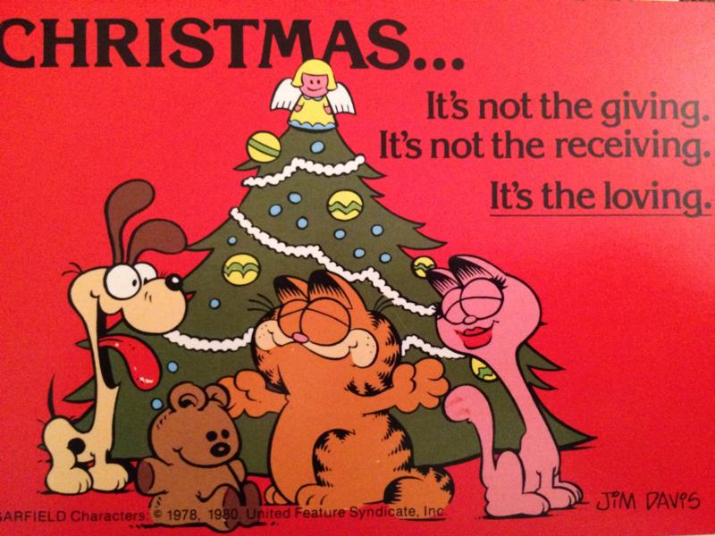 1978 - Garfield - vintage briefkaart Christmas