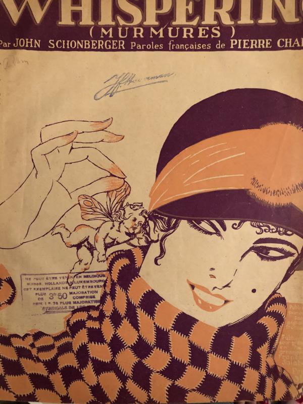 1920 | Whispering (Murmures). Paroles francaises de Pierre Chapelle.