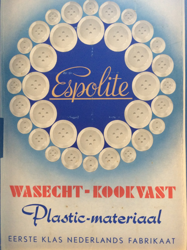 Espolite | Ivoor wit twee gaatjes | 12 mm | zakje met 12 kleine plastic knoopjes | jaren '50