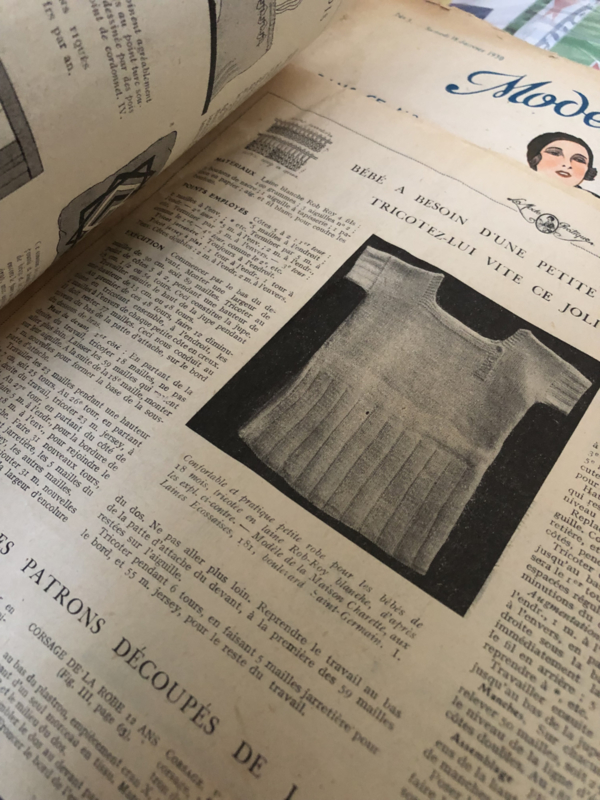 1930 | Revue Mode Pratique no. 4 Samedi 25 Janvier 1930 - Libraire Hachette