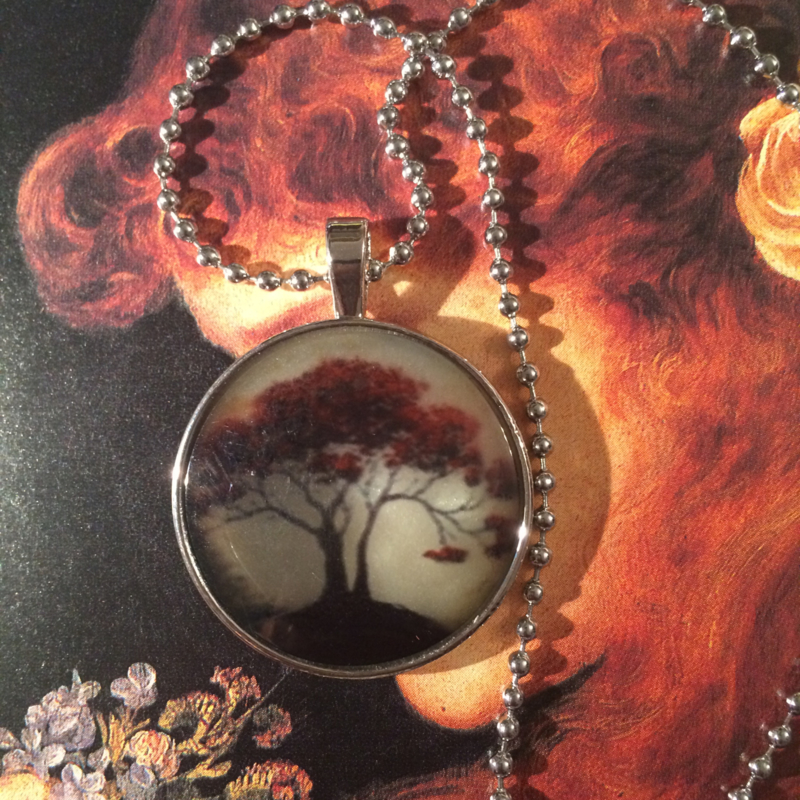"Ketting ""Autumn Red Tree"" - zilverkleurig"