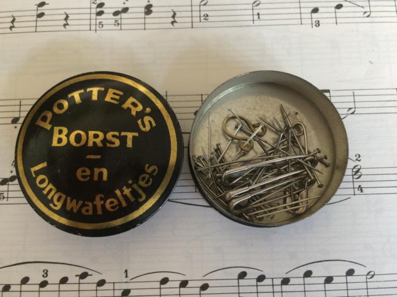 VERKOCHT | Verzamelblikje | Potter's borst - en Longwafeltjes | jaren '30