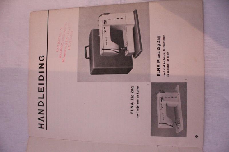 VERKOCHT | Handleiding Elna naaimachine Zig Zag jaren '50-'60