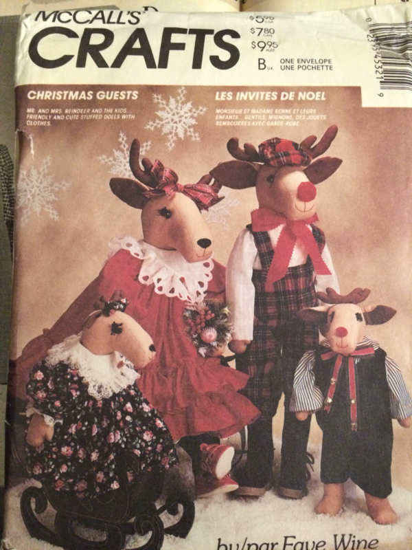 Vintage McCall's Crafts patroon, pattern, patron   Christmas Guests nr. 4532 Faye Wine