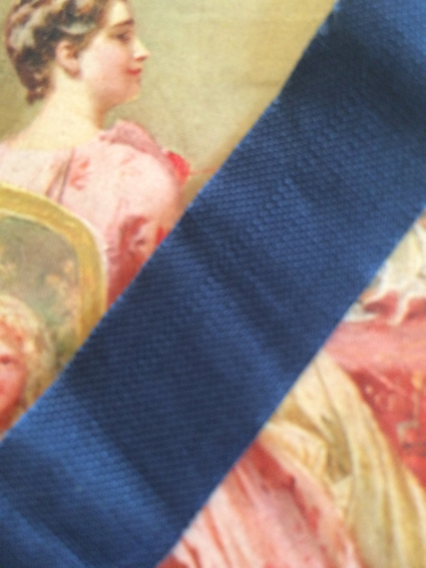 "Vintage band | Donkerblauw fluweel ""Blue Princess"" - 20 mm"