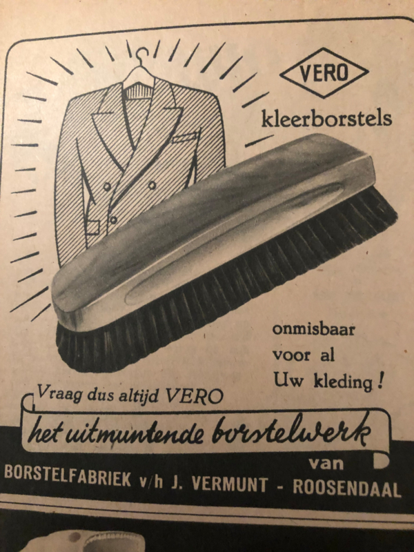 1951 - Advertentie VEBO kleerborstels