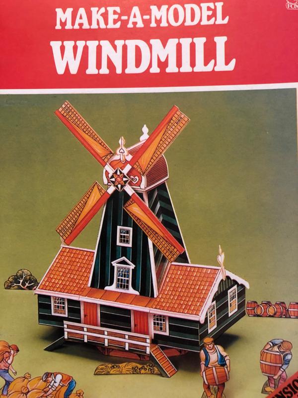 FoxClub Make-a-Model Windmill   3-D model to make   ISBN 0861070712