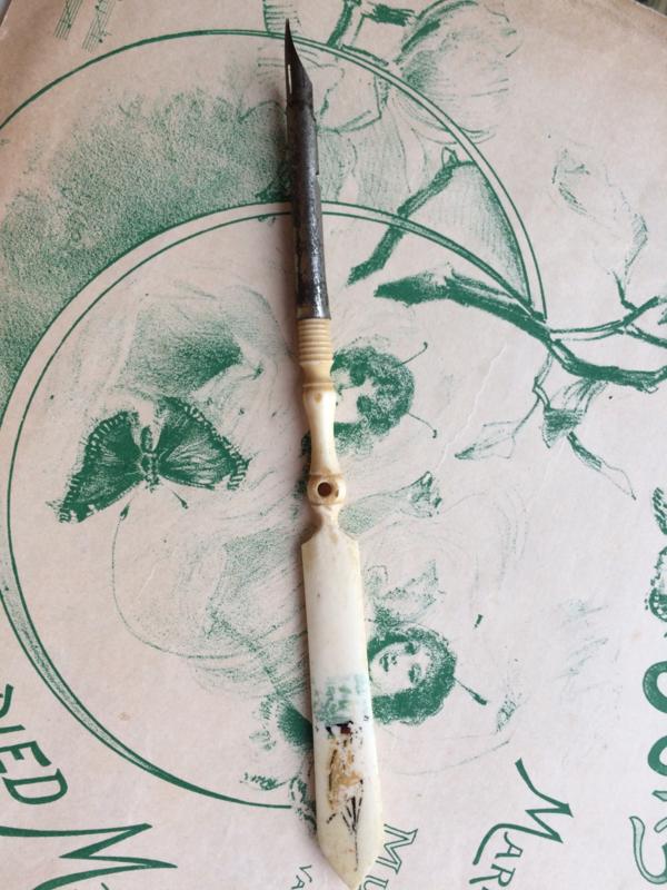 1870 | Antieke inktpen | been | bot | 19de eeuw