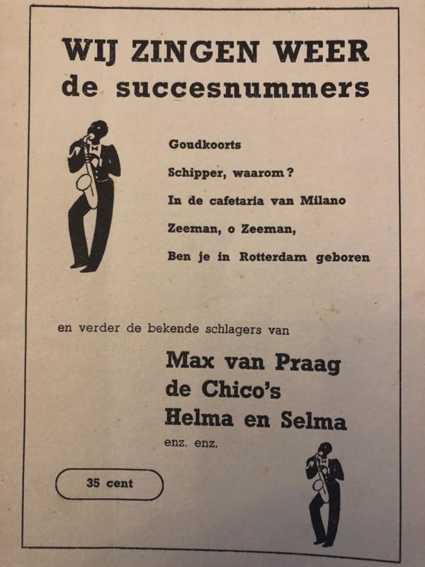 1950   Muziek   Songteksten   WIJ ZINGEN WEER de succesnumers (Liedjes)