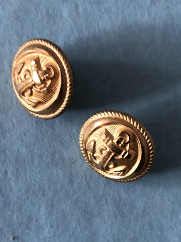 Goud   Anker - Goudkleurige knopen metaal 1 cm (4 stuks - 2 x 2) - jaren '60