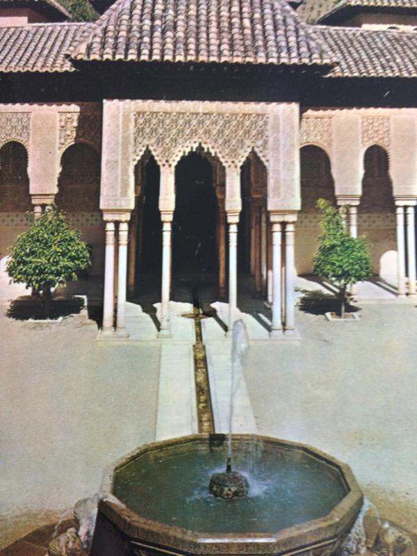 Spanje |  1950 - Kaartenmapje met vele mooie ansichtkaarten Granada en Alhamra | jaren '50 | KOLOR ZERKOWITZ
